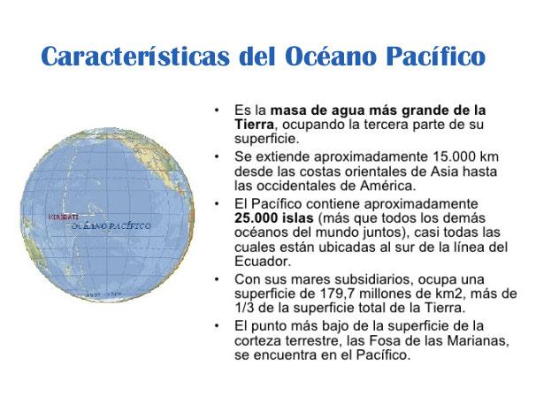 Características del Océano Pacifico