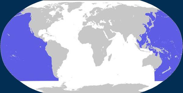 Dónde está el océano Pacifico