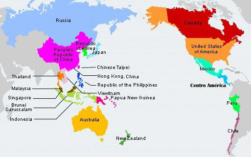 Qué países limitan con el Océano Pacifico