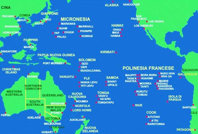 Principales islas del océano Pacífico
